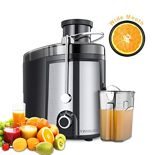 Best Review Of Juicer Juice Extractor, Yimaler Wide Mouth Centrifugal Juicer BPA-Free Food Grade Sta...