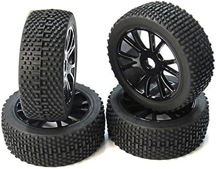 17mm Hub Wheel Rim Tires Tyre for 1//8 Off-Road RC Car Buggy KYOSHO HPI LOSI HSP