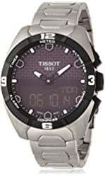 Tissot Men's T0914204405100 T-Touch Expert Solar Analog-Digital Display Swiss Quartz Silver Watch