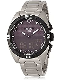 Men's T0914204405100 T-Touch Expert Solar Analog-Digital Display Swiss Quartz Silver Watch
