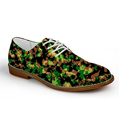 Idea Abbracci Mens Classico Camouflage Oxford Lace Up Flats Shoes Camouflage 5