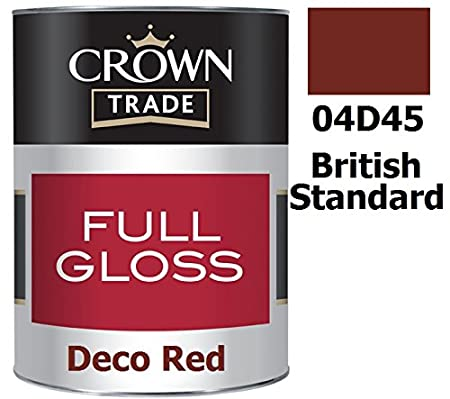 5L Crown Trade Full Gloss Deco Red | 04D45 Crown Gloss for