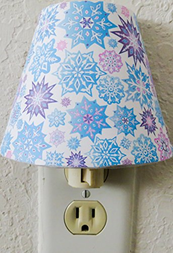 Snowflake Night Light in Pink, Purple and Blue Snowflakes Wall Decor by Presto Night Lights