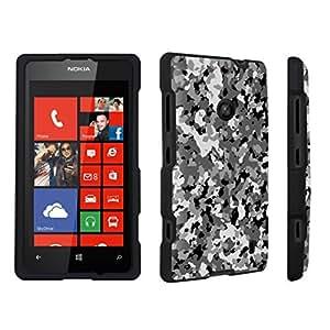 DuroCase ? Nokia Lumia 521 Hard Case Black - (Camouflage Black)