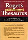 Roget's International Thesaurus, Peter M. Chapman, 0690000111