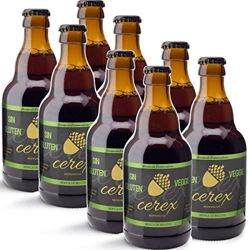 CEREX – Pack Cervezas Artesanas Sin Gluten Sabor Ibérica de Bellota – Cervezas de 33cl. – Mejor Cerveza Artesanal de…