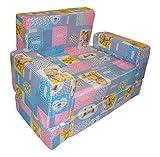 Kotak Sales Toddler Cartoon Design Sofa Cum Bed Foldable,Blue ,1 To 3 Year Age