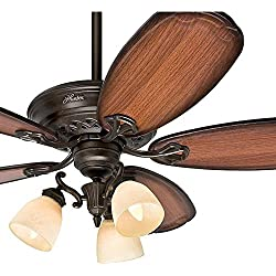 "Hunter Fan 54"" Ceiling Fan with Light Fixture in Tuscan Gold (Certified Refurbished)"