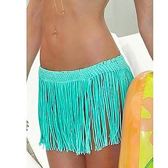 571fd60064d86 Image Unavailable. Image not available for. Color  Sexy Beach Skirt Summer  style Tassel Swimwear Beach Skirt Pareo Beach Bikini Cover ...