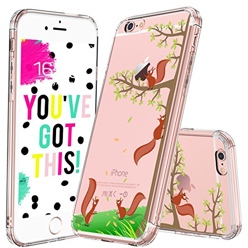 MOSNOVO iPhone 6S Case/iPhone 6 Case, Cute Squirrel Pattern Clear Design Printed Transparent Plastic Hard Back Case with Soft TPU Bumper Protective Case Cover for Apple iPhone 6/iPhone 6S