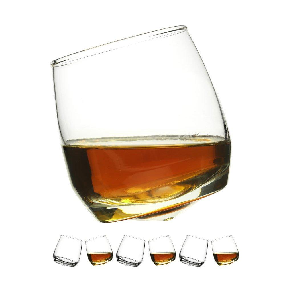 Pack of 6 Sagaform Rocking Whiskey Glasses Whiskey Stones