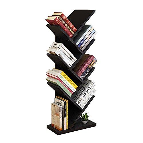 DL furniture - 8 Tiers Tree Shaped Book Storage Organizer Freestanding Bookshelves | Black