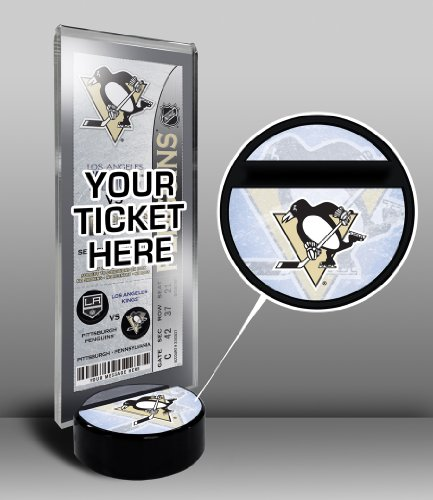 NHL Pittsburgh Penguins Hockey Puck Ticket Display Stand, One Size, ()