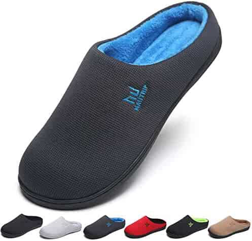 58645ac4c09b MAIITRIP Men s House Slippers Memory Foam Anti-Slip Slippers Breathable Indoor  Shoes