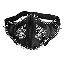 Cool Metal Studded Spike Punk Biker Rocker Mask Leather Masquerade Unisex