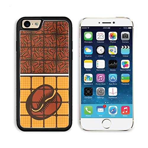Liili Premium Apple iPhone 6 iPhone 6S Aluminum Backplate Bumper Snap Case iPhone6 IMAGE ID: 20099863 set of four banners with a cup of coffee and grains