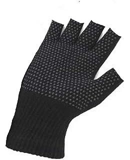 Adults Magic Fingerless Palm Grip winter Gripper Gloves
