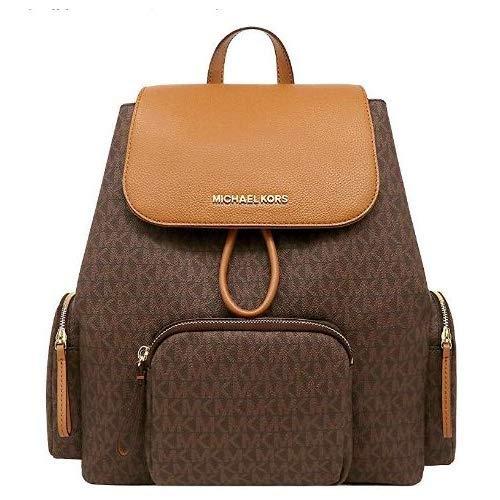 Michael Kors ABBEY CARGO PVC Backpack (BRN/ACORN)