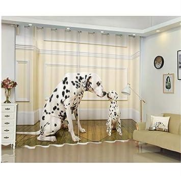 Eqwr Animales Lindos Gatos Perros Imprimir 3D Cortinas De Ventana Cortinas para Niños Niños Sala De Estar Sala De Estar Casa Tapiz De Pared H240 * W220 Cm: ...
