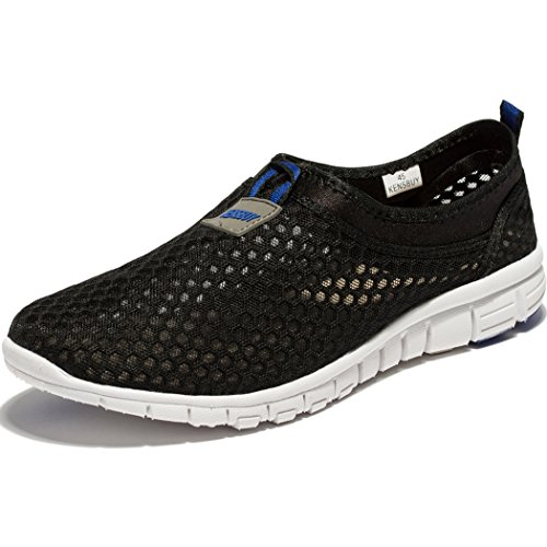 Changping Womens Mesh Chaussures De Marche Slip-on Sport Occasionnel Baskets Noir Bleu