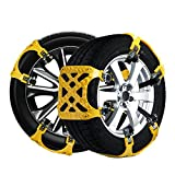 zulves Anti-skid Emergency Snow Tire Chains Truck Car Belting Straps anti slip snow chain Car Cable Tire Mud Snow Chains for SUV JEEP Car