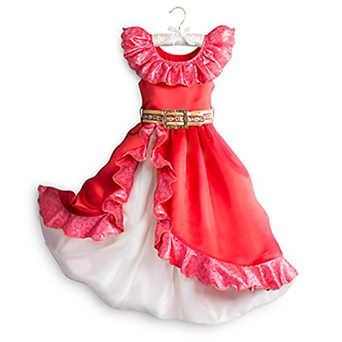 Disney Store Little Girls Princess Elena Of Avalor Costume - Red Sz 4T (Flamenco Dance Costumes For Girls)