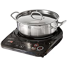 GoWISE USA GW22616 Portable Induction Cooktop with Stainless Steel Pan