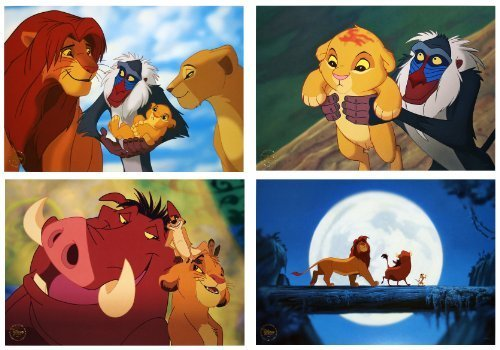 Disney Exclusive Limited Diamond Edition THE LION KING LITHOGRAPH SET of 4 (The Lion King Diamond Edition Blu Ray)