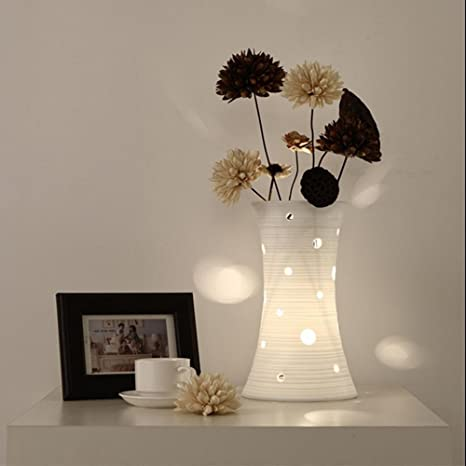 PPSAERTE®Cerámica Lámpara de mesa creativa Dormitorio Salón ...