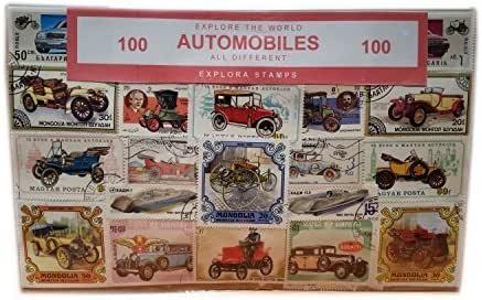 Colección de Sellos Vehículos - Coches/Autos/Automotores para el Transporte/de Todo el Mundo / 100 Sellos Diferentes/Recuerdo: Amazon.es: Juguetes y juegos