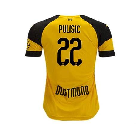 Congud Mens Pulisic Jersey Borussia Dortmund Christian Adult 22 BVB 2018 19  Home Soccer Yellow c4f228847