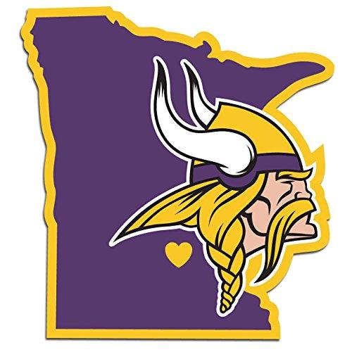 NFL Minnesota Vikings Home State Decal, -