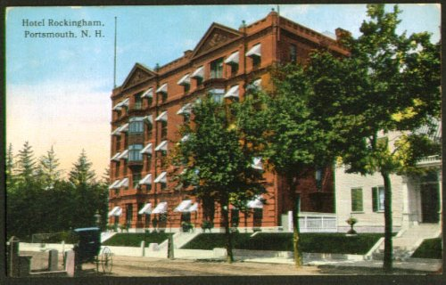 (Hotel Rockingham Portsmouth NH postcard 1914)