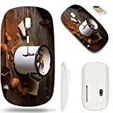 MSD Wireless Mouse White Base Travel 2.4G Wireless Mice with USB...