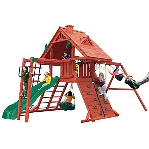 Sun Palace Cedar II Swing and Play Set with Two...
