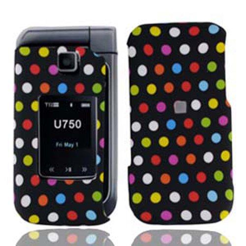 LF Designer Hard Case Cover with Lf Stylus Pen bundle For Verizon Samsung U750 Zeal, Alias 2 (Rainbow Dot)