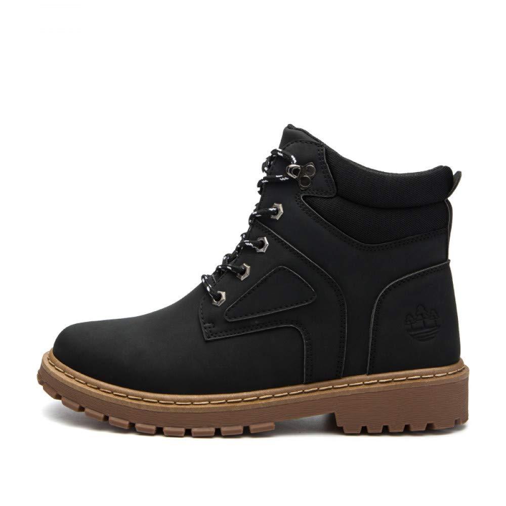 FHCGMX Echtes Leder Herbst Winter Warme Lässige Arbeit Männliche Stiefeletten Für Männer Schuhe Erwachsene Turnschuhe Wanderschuhe