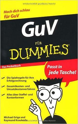 Book GuV Fur Dummies Das Pocketbuch (Für Dummies)