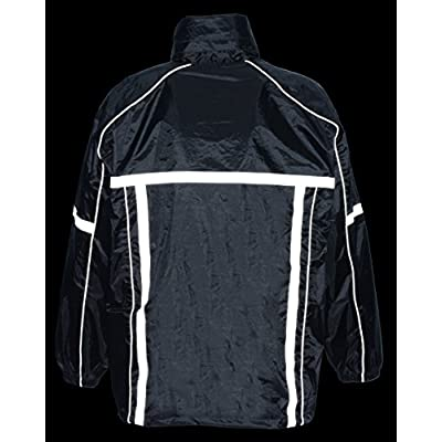 Milwaukee Performance Men's Water Resistant Rain Suit with Reflective Tape (Black, X-Small): Automotive