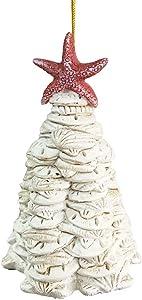 The Bridge Collection Sea Shells & Sand Dollars Christmas Tree Ornament