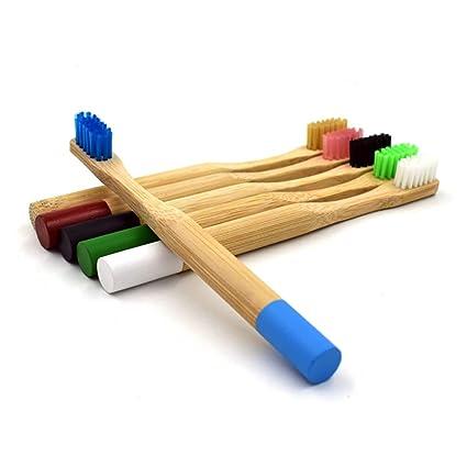Cepillo de dientes manual de bambú para niños meticulosamente elaborado con cerdas medianas, cerdas de