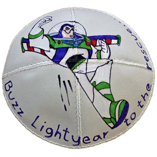 Hand-painted Kippah (Yarmulke) with Buzz Lightyear to the Rescue