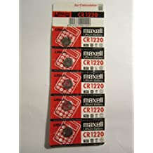 MAXELL 5 x CR1220 CR BR DL 1220 - 3V Lithium Button Cell Battery Batteries NEW