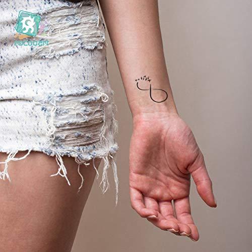 Inglés temporal Palabra Tatuaje pegatinas negro letras pluma ...