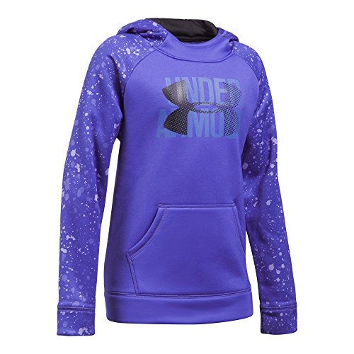 Under Armour Girls Fleece Novelty Big Logo Hoodie, X-Large, Constellation (Logo Fleece Pullover Jacket)