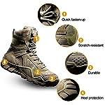 FREE SOLDIER Bottes de Chasse pour Hommes Bottes Militaires de Haut-Niveau Bottes Tactiques de Combat Chaussures à… 8