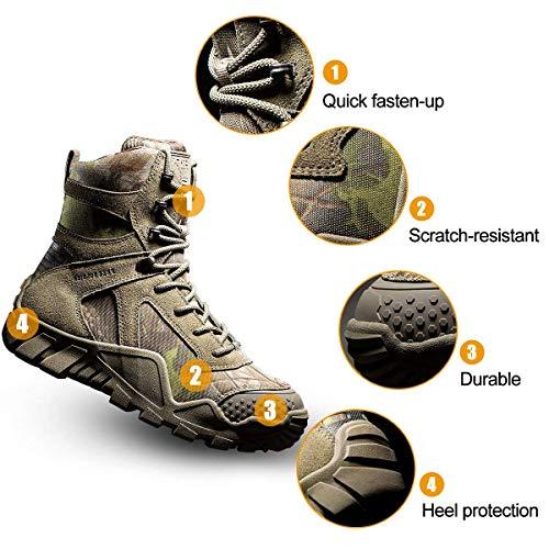 FREE SOLDIER Bottes de Chasse pour Hommes Bottes Militaires de Haut-Niveau Bottes Tactiques de Combat Chaussures à… 2