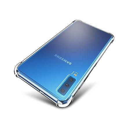 SLEO Funda para Samsung Galaxy A7 (2018) Carcasa Protectora Silicona TPU Suave Ultra Delgada Flexible Case Bumper con Esquinas Reforzadas ...