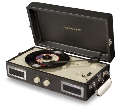 Crosley CR40-BK Mini Turntable with Full-Range Stereo Speake