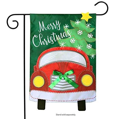 Christmas Applique Flag - Briarwood Lane Christmas Truck Applique Garden Flag Holiday 12.5